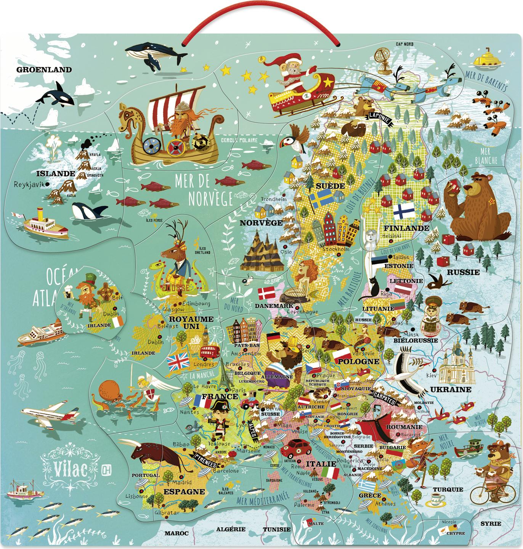 Vilac Nástěnná magnetická mapa Evropy empty 7adcae9a4f
