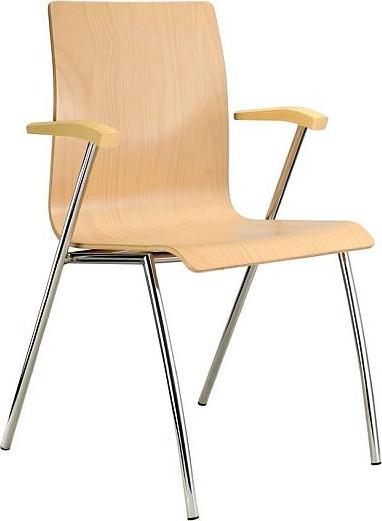 Alba Konferenční židle Ibis s područkami - dřevěná - výhodně