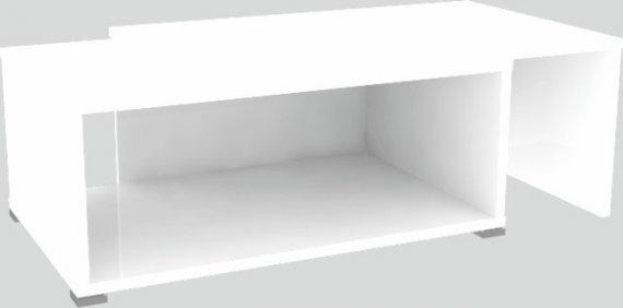 Tempo Kondela Konferenční rozkládací stolek DRON - bílá/bílá