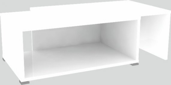 Tempo Kondela Konferenční rozkládací stolek DRON - bílá/bílá + kupón KONDELA10 na okamžitou slevu 10% (kupón uplatníte v košíku)