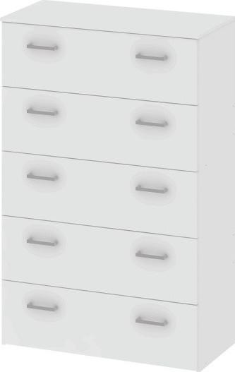 Tempo Kondela Komoda, bílá GARBO 5 + kupón KONDELA10 na okamžitou slevu 10% (kupón uplatníte v