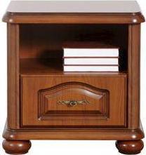 BRW Noční stolek Natalia KOM55/1S Modřín sibiu světlý