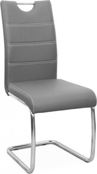 Tempo Kondela Jídelní židle ABIRA - světle šedá ekokůže + kupón KONDELA10 na okamžitou slevu 10% (kupón uplatníte v košíku)