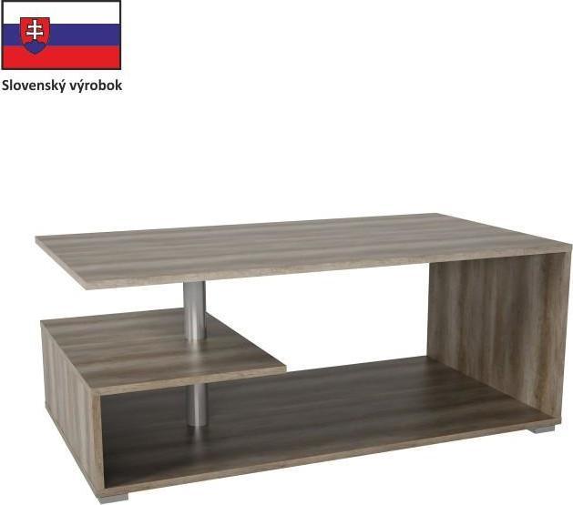 Tempo Kondela Konferenční stolek DORISA - dub canyon + kupón KONDELA10 na okamžitou slevu 10% (kupón uplatníte v košíku)
