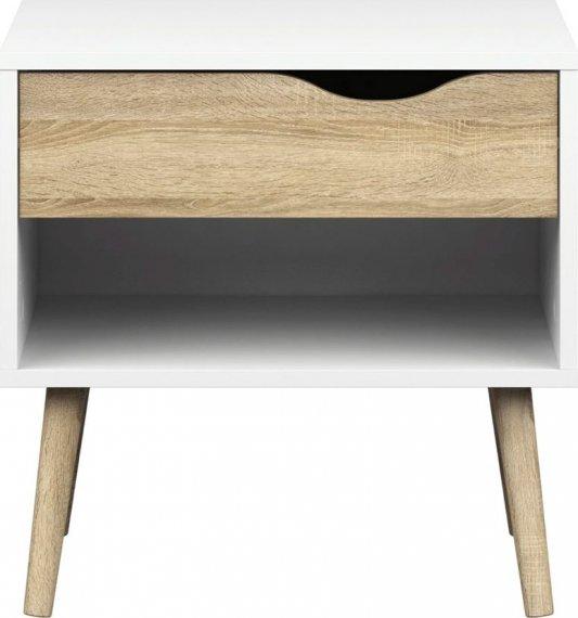 Falco Noční stolek Retro 4 bílá/dub