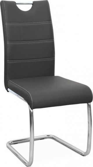 Tempo Kondela Jídelní židle Abira NEW - tmavě šedá ekokůže + kupón KONDELA10 na okamžitou slevu 10% (kupón uplatníte v košíku)