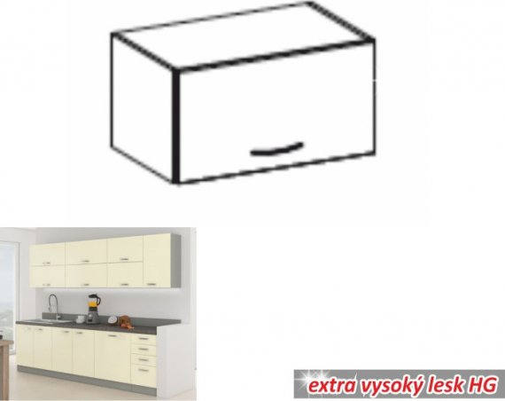 Tempo Kondela Kuchyňská skříňka PRADO 60 OK-40 + kupón KONDELA10 na okamžitou slevu 10% (kupón uplatníte v košíku)