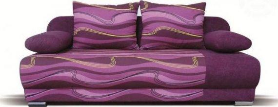 Falco Pohovka Futon - fialová vlnky