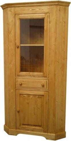 Unis Dřevěná skříň rohová vysoká 00176