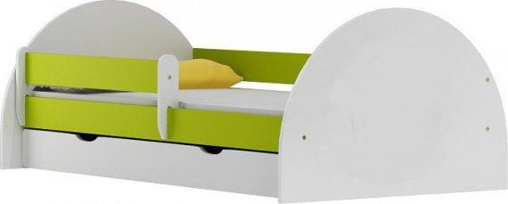 Vomaks Dětská postel FOTBAL 20 bez potisku + MATRACE - 3096/90/ZEL