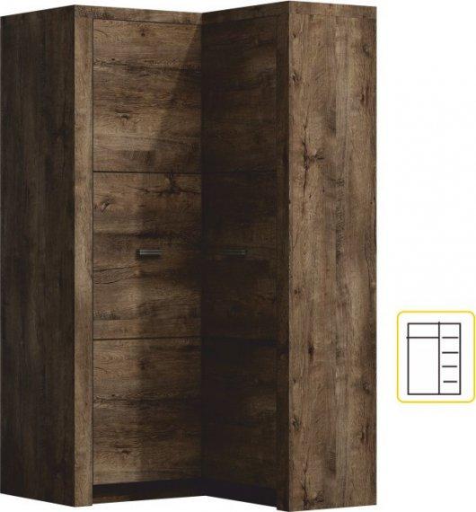 Tempo Kondela Rohová skříň INFINITY 14 jasan tmavý + kupón KONDELA10 na okamžitou slevu 3% (kupón uplatníte v košíku)