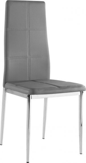 Tempo Kondela Židle LERA - šedá ekokůže / chrom
