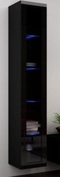 Cama Vitrína VIGO vysoká, prosklené dveře - černá