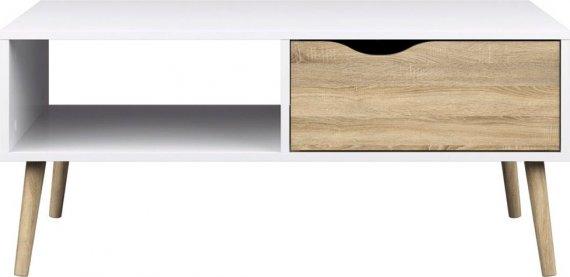 Falco Konferenční stolek Retro 384 - bílá/dub