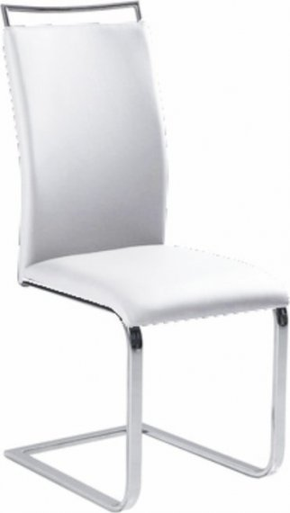 Tempo Kondela Jídelní židle BARNA NEW - bílá ekokůže + kupón KONDELA10 na okamžitou slevu 10% (kupón uplatníte v košíku)