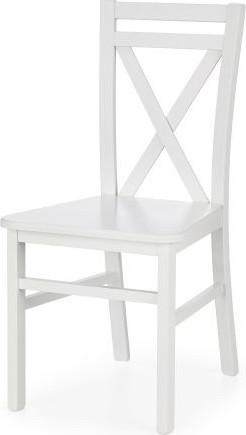 Halmar Dřevěná židle Dariusz 2 Bílá/tmavý ořech
