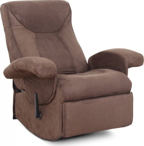 Tempo Kondela Relaxační křeslo SUAREZ - hnědé + kupón KONDELA10 na okamžitou slevu 10% (kupón uplatníte v košíku)