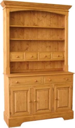 Unis Dřevěná kredenc otevřená 00140