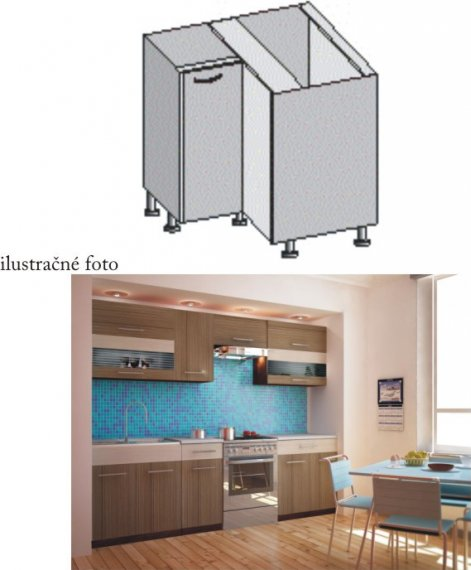 Tempo Kondela Kuchyňská skříňka JURA NEW I DN-88*88 + kupón KONDELA10 na okamžitou slevu 10% (kupón uplatníte v košíku)