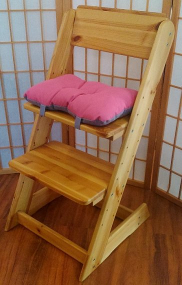 ATAN Sedák na dětskou židli Oranžovo-červená
