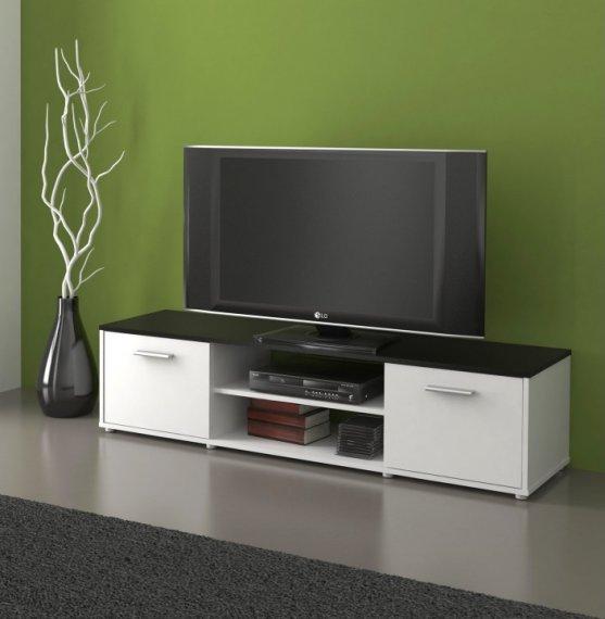 Tempo Kondela TV stolek ZUNO 01 - černá/bílá + kupón KONDELA10 na okamžitou slevu 10% (kupón uplatníte v košíku)