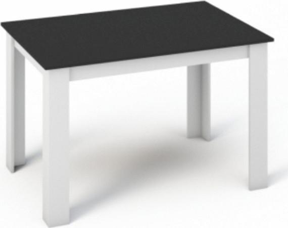 Tempo Kondela Jídelní stůl KRAZ 120x80 - Bílá / Černá + kupón KONDELA10 na okamžitou slevu 10% (kupón uplatníte v košíku)