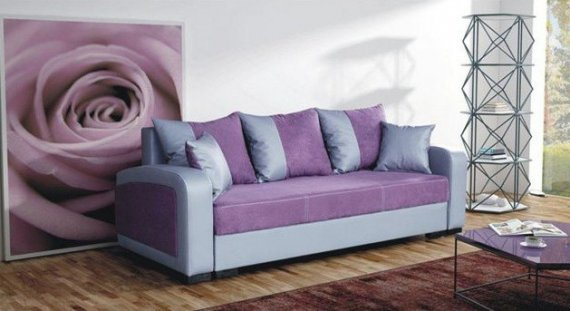 Falco Pohovka Zara - fialová/EKO šedá