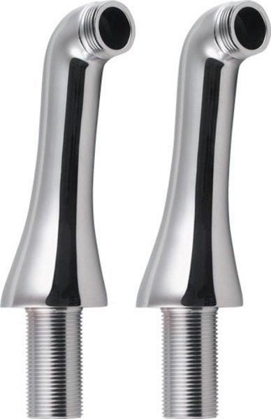 ANTEA připojení pro instalaci vanové baterie na okraj vany (pár), chrom 9851