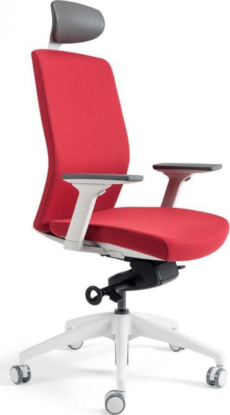 Office Pro Kancelářská židle J2 WHITE SP - červená 202