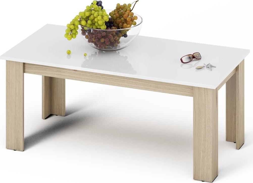 Casarredo Konferenční stolek KANO sonoma/bílá lesk