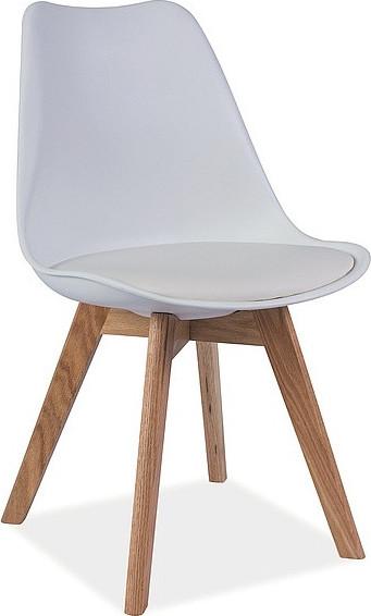 Casarredo Jídelní židle KRIS bílá/buk