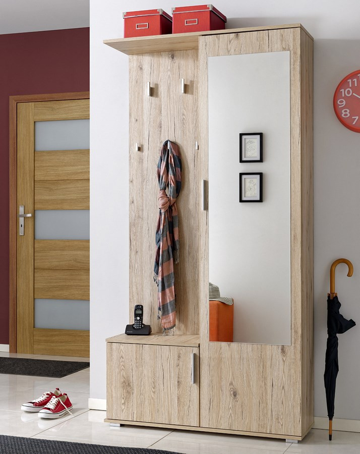 Casarredo Předsíňová stěna CUBA ( věšák, botník, zrcadlo, skříň )