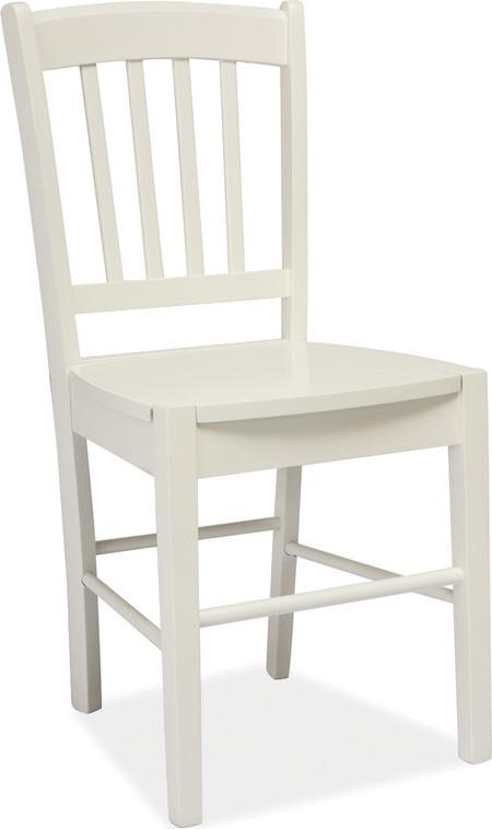 Casarredo Jídelní dřevěná židle CD-57 bílá