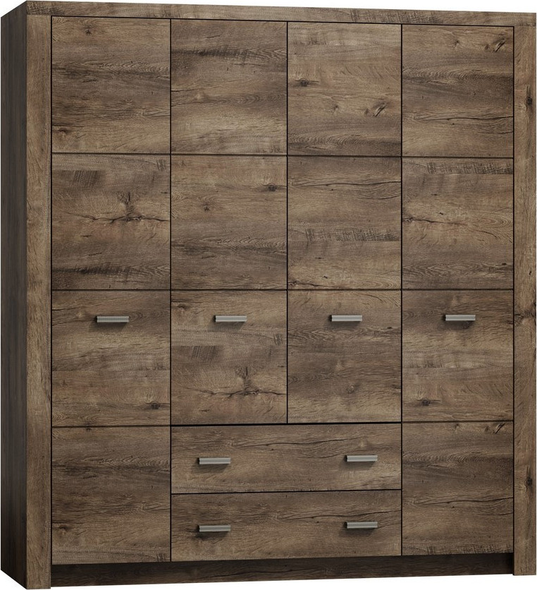 Casarredo Šatní skříň 4-dveř.INDIANAPOLIS I-18 jasan tmavý