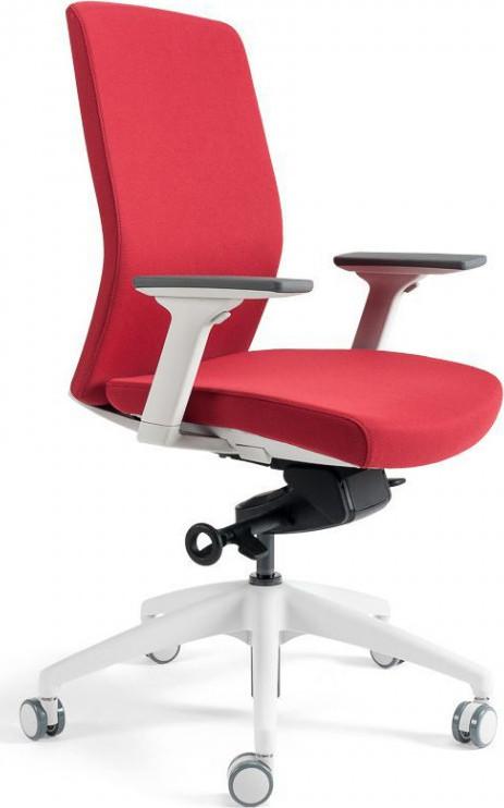 Office Pro Kancelářská židle J2 WHITE BP - červená 202