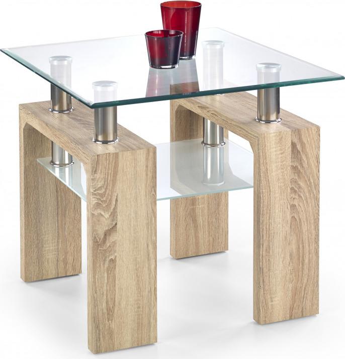 Halmar Konferenční stolek Diana H kwadrat, dub sonoma