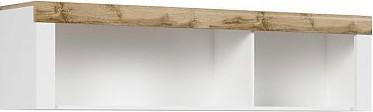 BRW Závěsná skříňka Holten SFW/ - dub wotan/bílý lesk