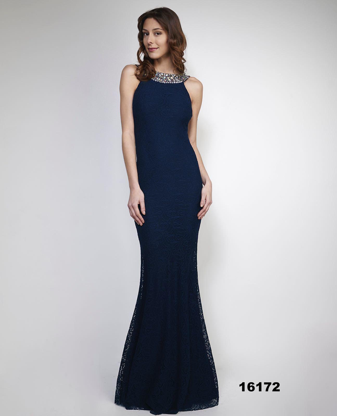 Luxusní dlouhé plesové šaty - tmavě modré - Fashion week s 2b5880d914