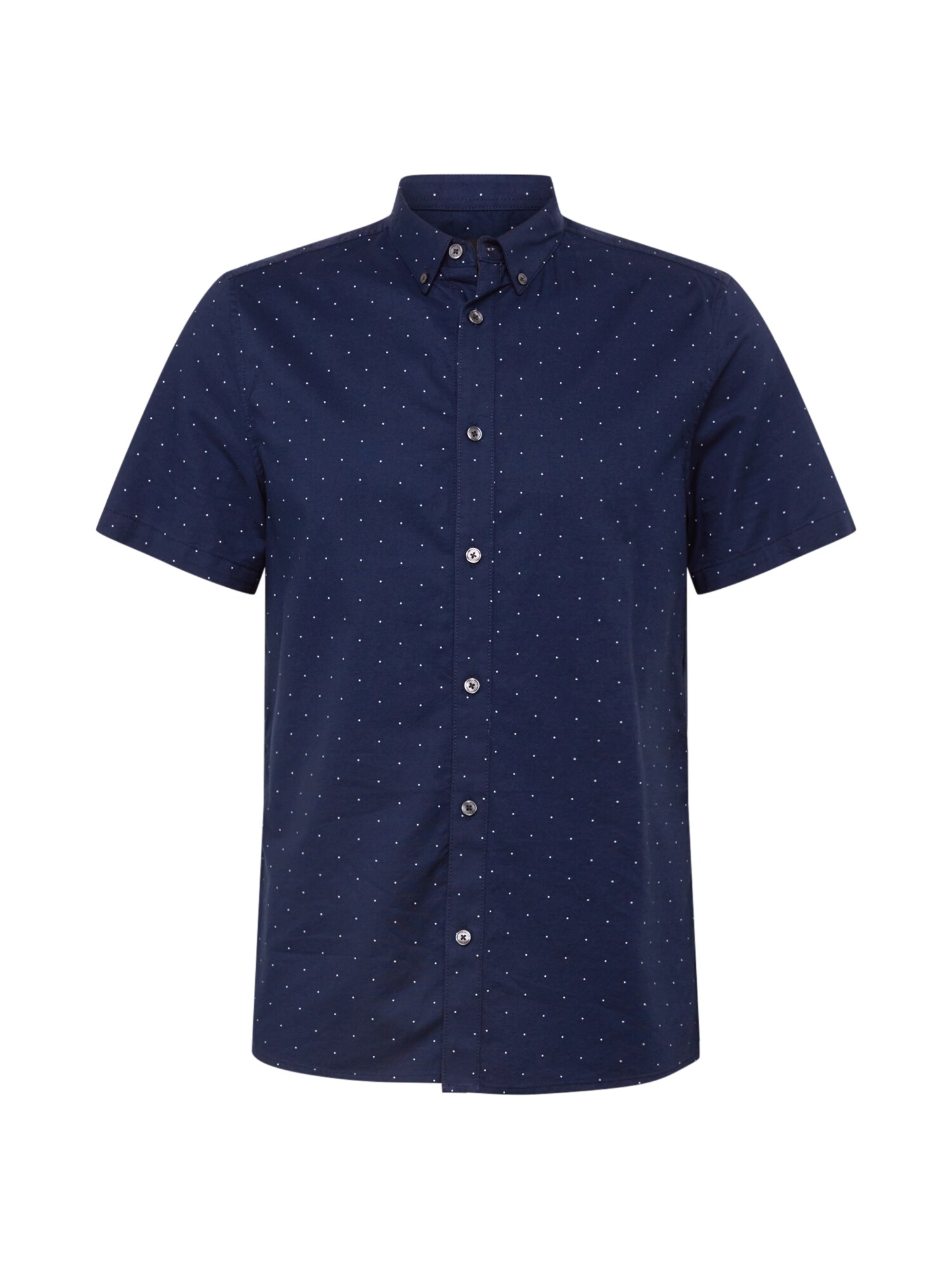 BURTON MENSWEAR LONDON Košile NAVY FINE DOT OXFORD SHIRT námořnická modř Burton Menswear London