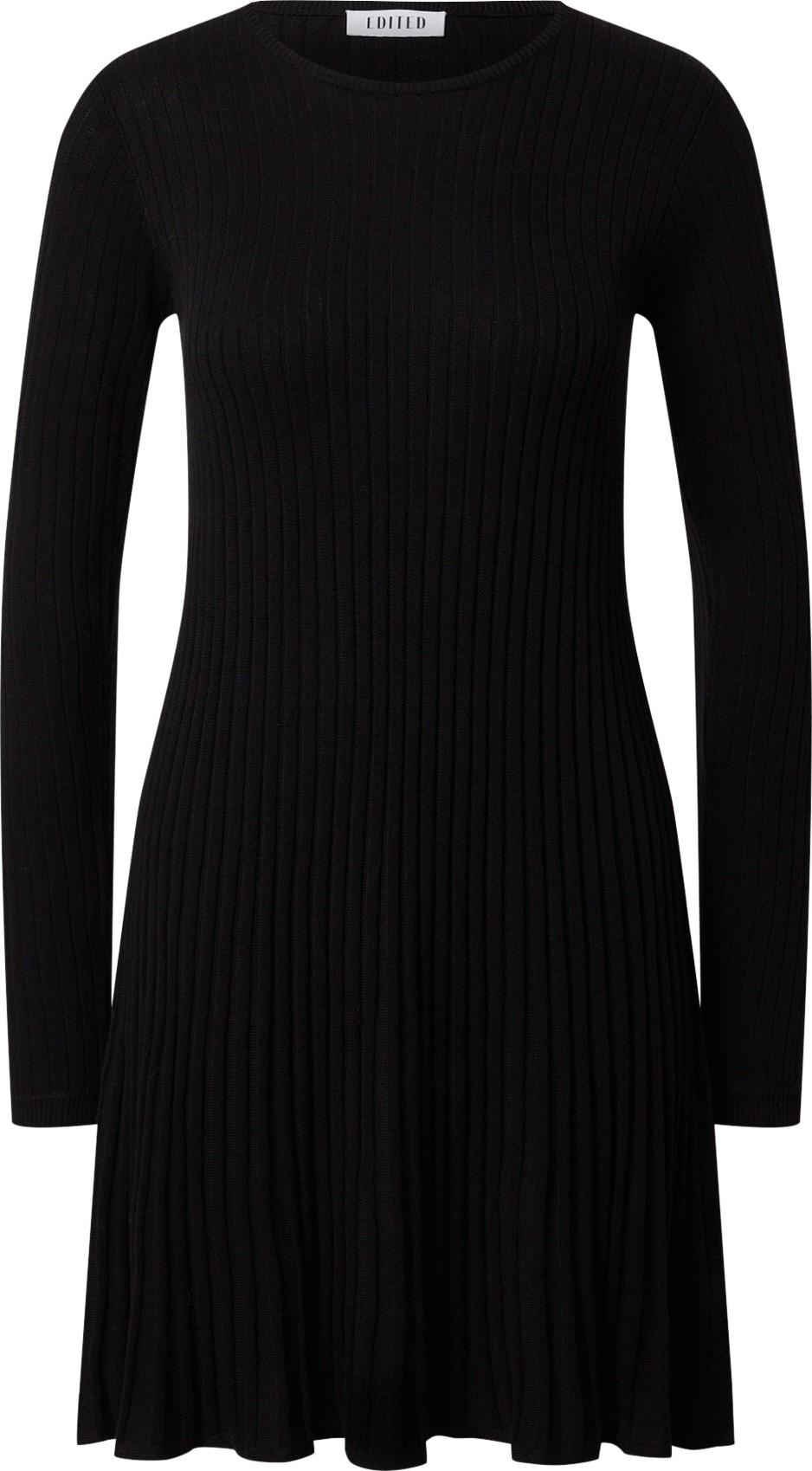 EDITED Úpletové šaty'Katrin' černá