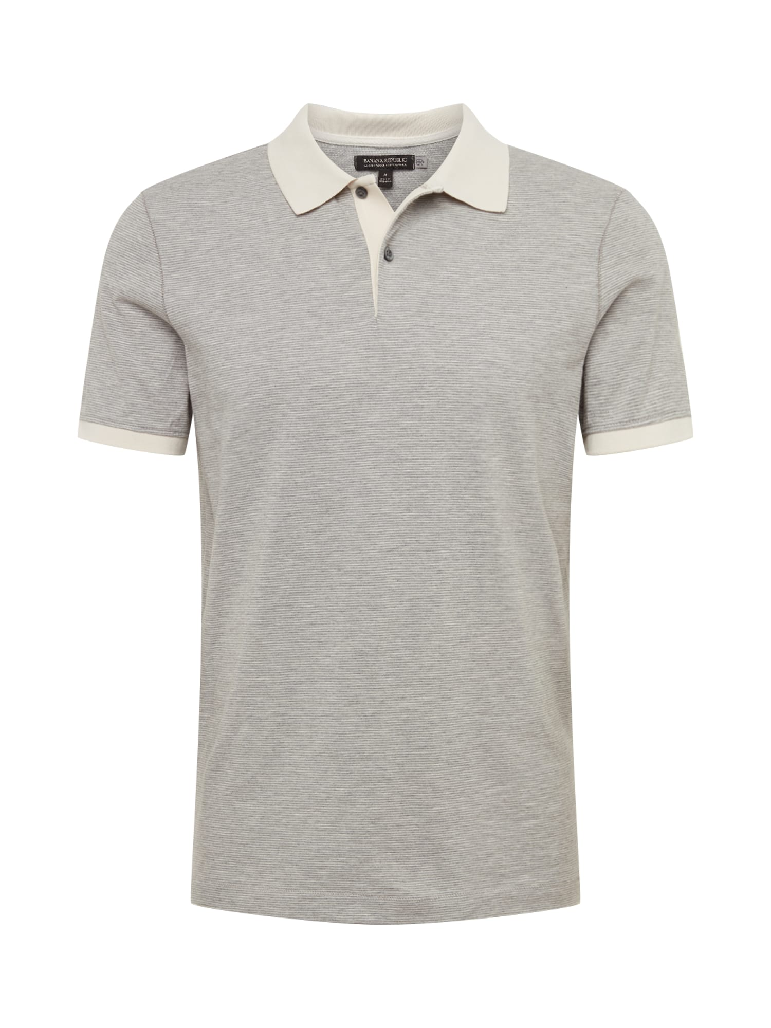 Tričko PERF LUX SZ NEUTRAL FEEDER STRIPE POLO světle šedá Banana Republic
