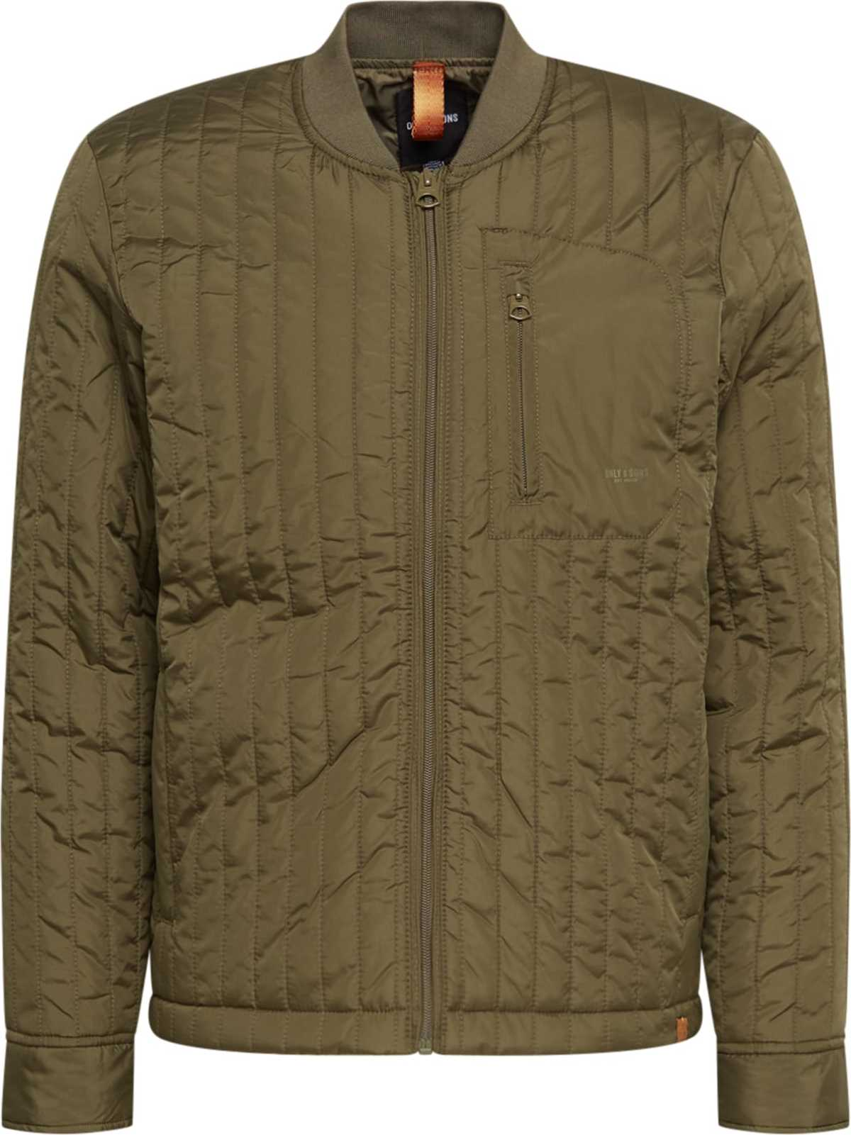 Only Sons Přechodná bunda ONSVINCENT LIFE QUILTED JACKET OTW khaki ONLY & SONS