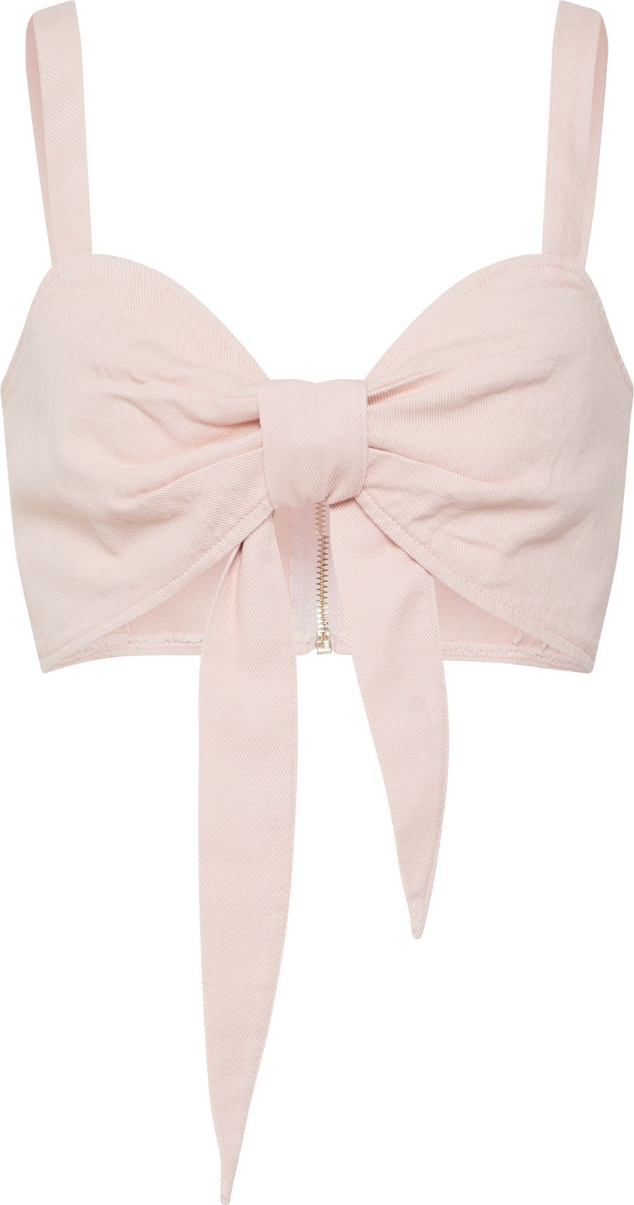 Top Tie Front Co Ord Bralet Pink pink Missguided