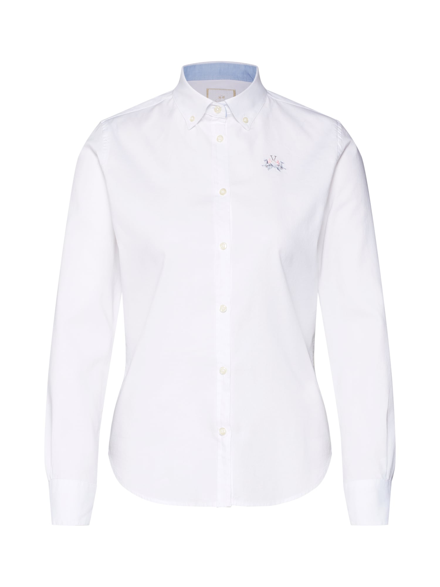 Halenka SHIRT LS OXFORD 501 302 STR bílá La Martina
