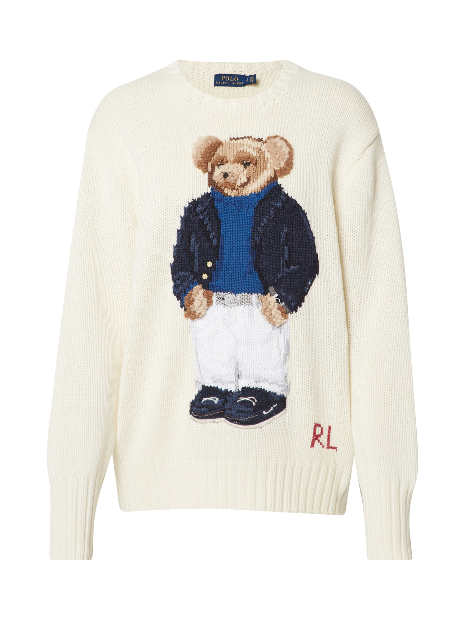 POLO RALPH LAUREN Svetr YACHT BEAR-LONG SLEEVE-SWEATER béžová Polo Ralph Lauren