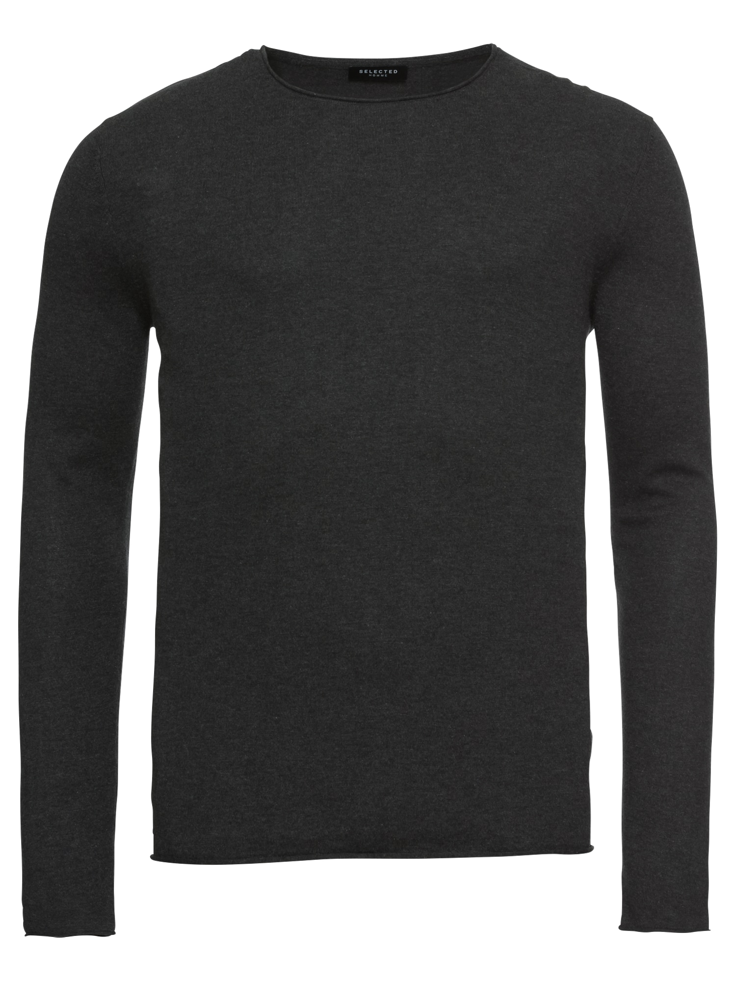 SELECTED HOMME Svetr SHDDOME CREW NECK NOOS antracitová Selected Homme