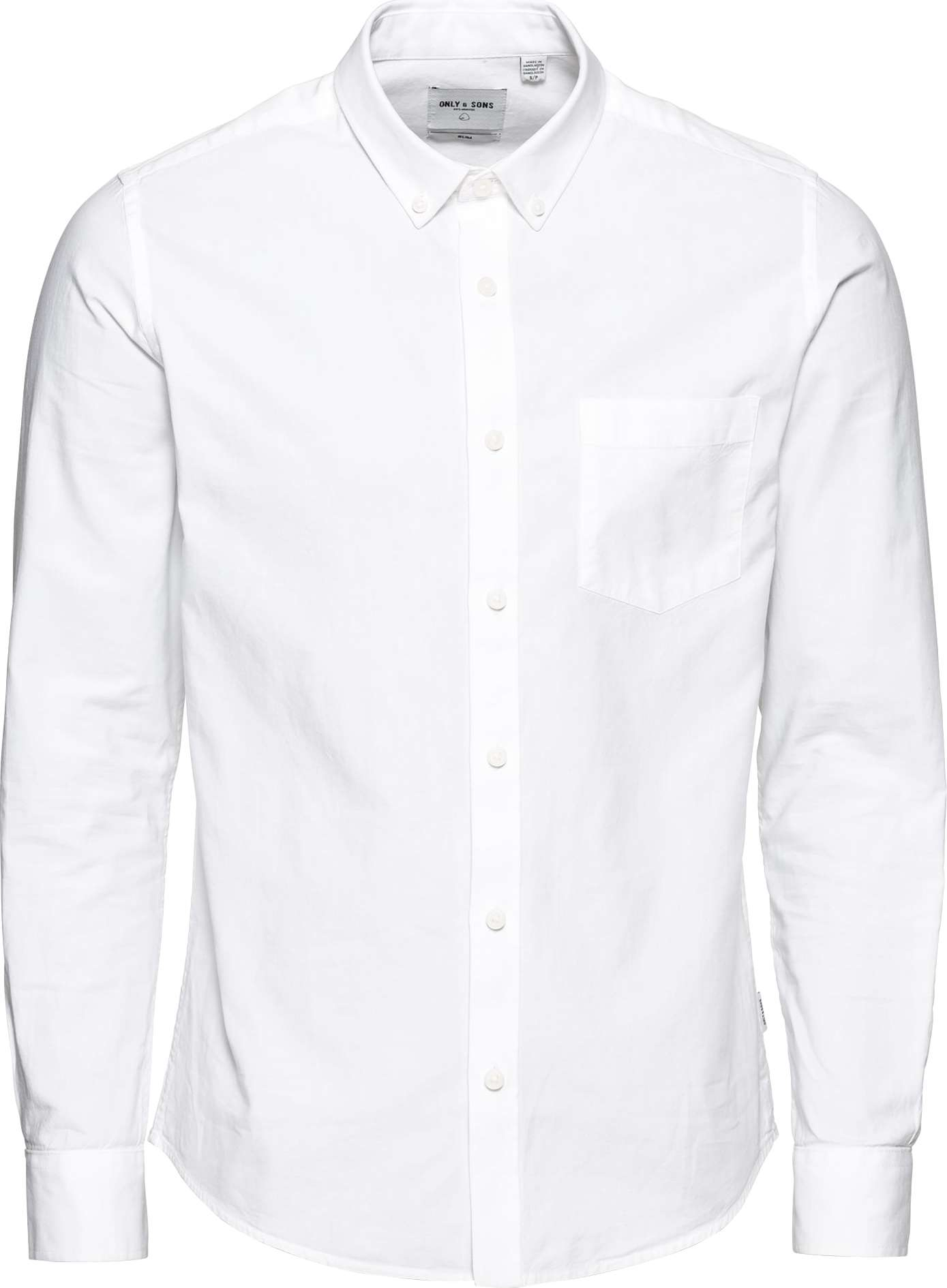 Only Sons Košile ALVARO LS OXFORD SHIRT NOOS bílá ONLY & SONS