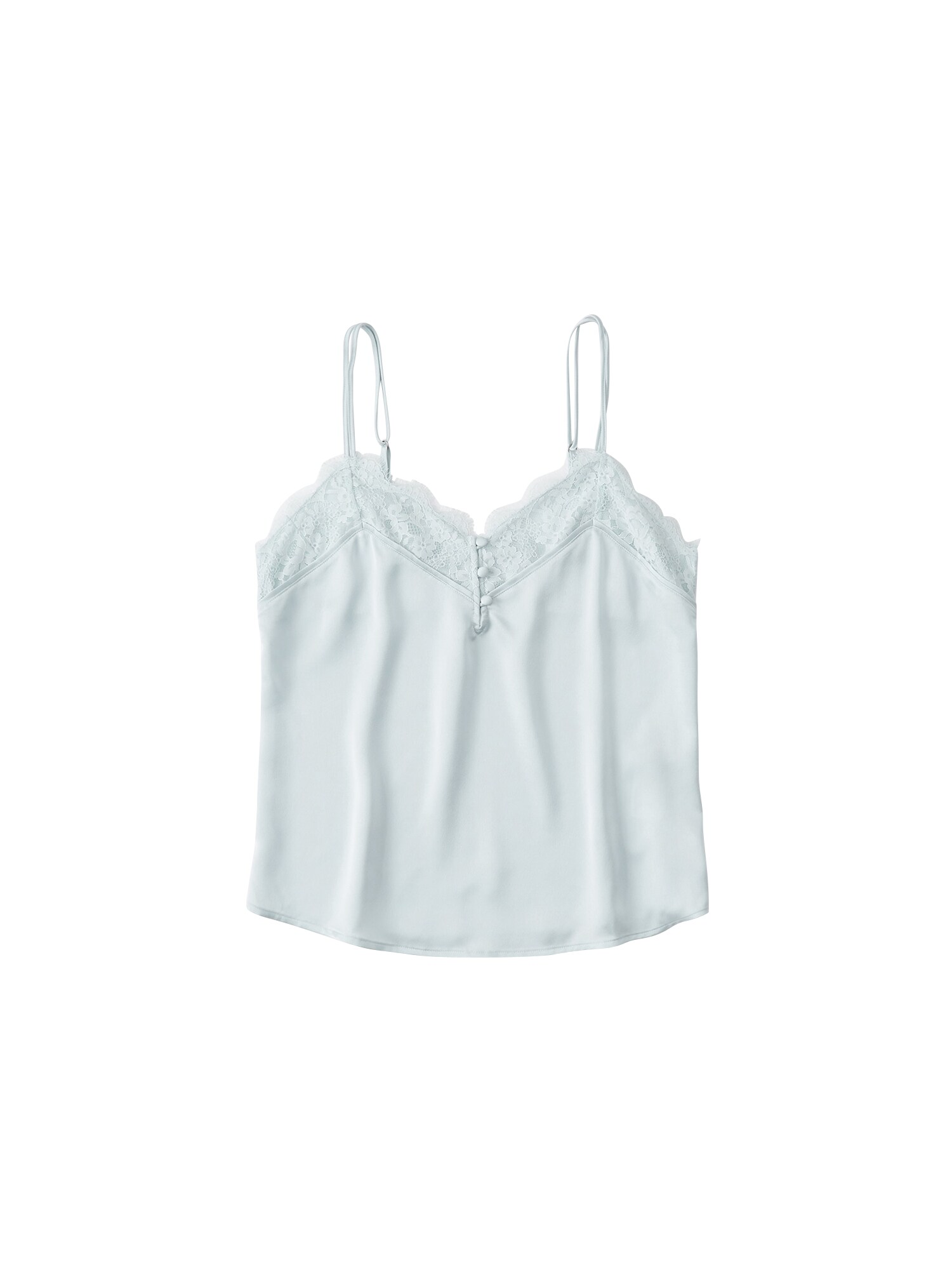 Abercrombie Fitch Top XM19-SCANDY STREET LINGERIE CAMI 3CC modrá Abercrombie & Fitch
