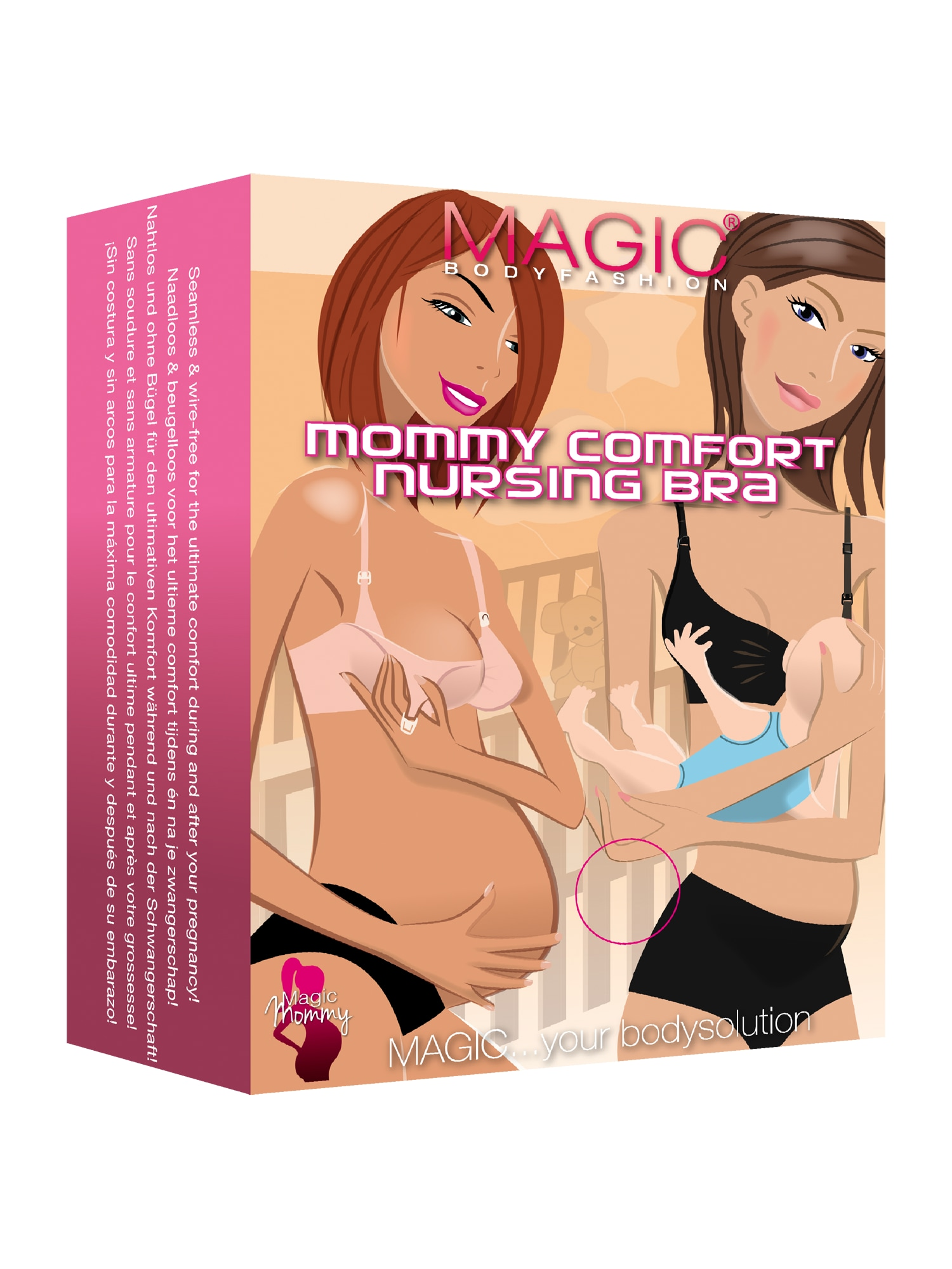MAGIC Bodyfashion Kojící podprsenka Mommy Comfort béžová Magic bodyfashion