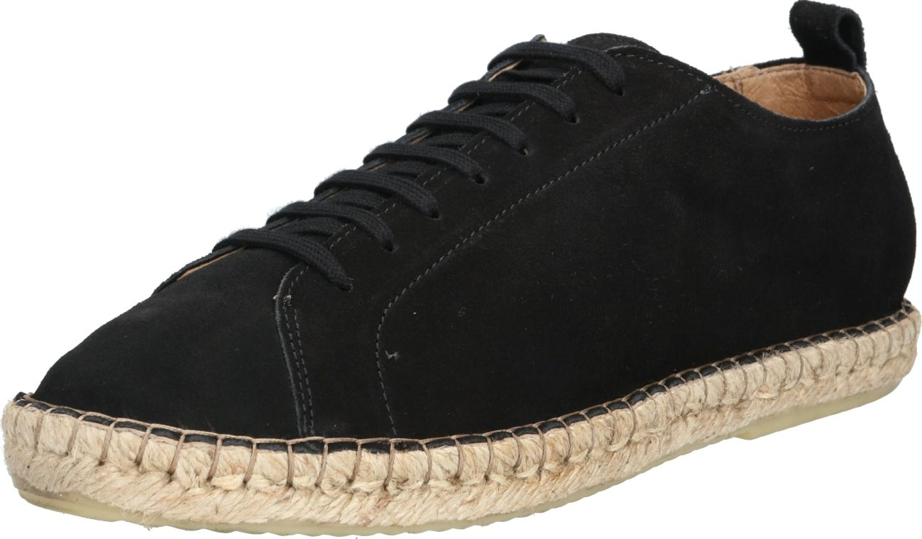 ROYAL REPUBLIQ Espadrilky PILGRIM SUEDE DERBY SHOE černá Royal Republiq